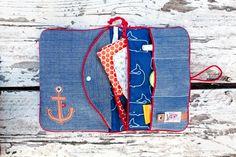 DIY-Set für eine Windeltasche mit Nähanleitung und Schnittmuster / diy kit: diaper bag, with pattern made by Von Lange Hand via DaWanda.com