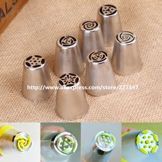 Free shipping 7pcs/lot Russian Tulip Nozzle Perfect For Cake Cupcake Decorating