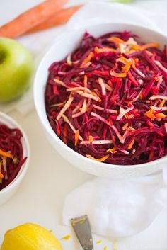 Beet, Carrot & Apple Salad | StupidEasyPaleo.com Delicious for non-beet lovers too!