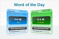 Great flash cards and word of day reminders