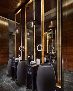 Four Seasons Hotel bathroom, Pudong Washroom Design, Toilet Design, Bathroom Design Small, Bath Design, Bathroom Spa, Bathroom Interior, Bathroom Ideas, Washroom Vanity, Royal Bathroom