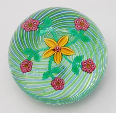 Perthshire Paperweight. Glass. Floral detail. Art.