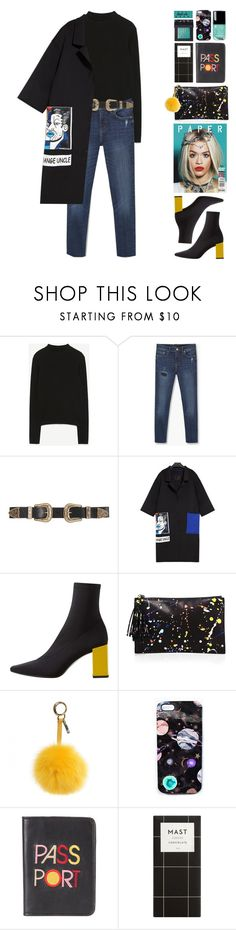 """""""Atmosphere"""" by doga1 ❤ liked on Polyvore featuring MANGO, B-Low the Belt, Loeffler Randall, Fendi, Nikki Strange, Lizzie Fortunato, NARS Cosmetics and Chanel"""