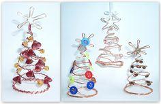 Návod na drátované vánoční ozdoby - stromečky
