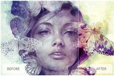 Lovely Watercolor Effect Actions - Actions
