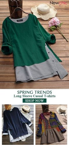 Blouses and shirts Bobina birgebo Nähen 2019 Spring trends for women long sleeve T-shirt, plus size and colors you can options. Bobina 2019 Spring trends for women long sleeve T-shirt, plus size and colors you can options. Plus Size Shirts, Plus Size Fashion For Women, Trendy Fashion, Fashion Ideas, Mode Hippie, Sewing Shirts, Women's Shirts, Shirt Bluse, Style Casual