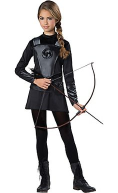 girls warrior huntress costume party city halloween costumes girlscostume for kidscostumes - Wolf Halloween Costume Kids
