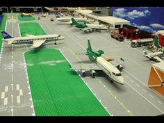 Lego City Airport, Lego Plane, Legos, Lego Lego, Lego Boards, Airport Shuttle, Passenger Aircraft, Lego Trains, Lego Projects