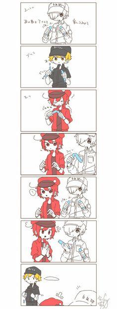 wbc x rbc lemon rbc x wbc ` rbc x wbc comic ` rbc x wbc anime ` rbc x wbc family ` wbc x rbc lemon ` hataraku saibou wbc x rbc ` wbc x rbc cells at work ` rbc and wbc Manga Anime, Me Anime, Fanarts Anime, Anime Love, Totoro, Manhwa, Blood Anime, Desenhos Love, Card Captor