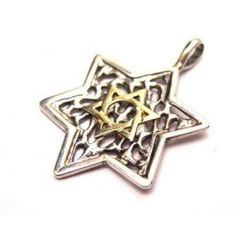 Judaica collection  Star of David, Gold and Silver  jewelry by Artleah. $56.00, via Etsy.