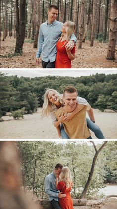 outfit ideas for engagement photos- dreamy woodsy engagement photos Engagement Session, Engagement Photos, Michigan, What To Wear, Outfit Ideas, Couple Photos, Inspiration, Outfits, Couple Shots