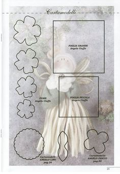 How To Knit: Christmas felt crafts: making angel, Christmas wearth, poisettia flower....