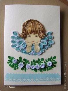 Квиллинг ангелы на открытках