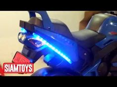 SIAMTOYS - มอเตอร์ไซค์เด็ก – LNM852 ทรงBMW (สีน้ำเงิน) - Line id : @siam...