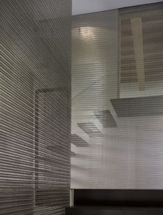 DETAILS | love the metal mesh divider, would look great if powder coated #details #stairs