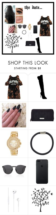 """the date..."" by iamjennagarcia on Polyvore featuring Boohoo, Atmos&Here, Vera Bradley, MICHAEL Michael Kors, Hershesons, Illesteva and Godinger"