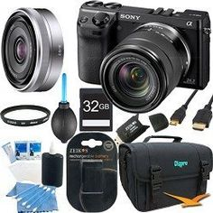 Sony MP Black Camera Bundle w/ lens Camera Accessories, Accessories Store, Sony 32, Camera Deals, Camera Store, Sony Camera, Zoom Lens, Binoculars, Headset