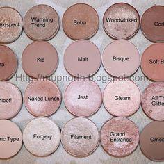 Mac eyeshadows, I want all of these! SO pretty!