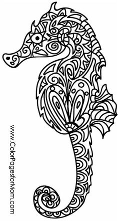 seahorse coloring page #colorpage #adultcoloringpage #colorpagesforadults #seahorse