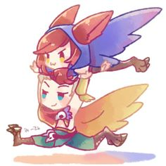 Xayah and Rakan *w* - League of legends