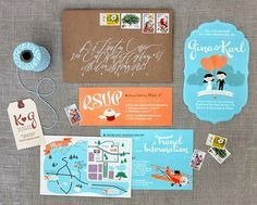 I love the playful script and shape of the invitation inserts! Your guests couldn't help but smile if they received these in the mail!