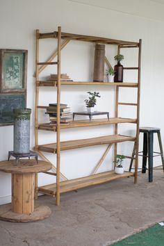 Kalalou Bamboo Display Shelf