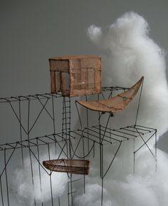 """de Fer est mon Fil - détail sculpture sous globe """"l'éclaircie"""" 05- Isabelle Bonte"""