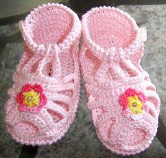 Sandalias de Bebe sandaliasrosadabebe-tejido....