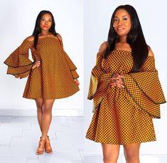 Latest Ankara Dress Styles - Loud In Naija African Fashion Ankara, Latest African Fashion Dresses, African Print Fashion, Short African Dresses, African Print Dresses, African Prints, Short Dresses, African Traditional Dresses, Dressing Rooms