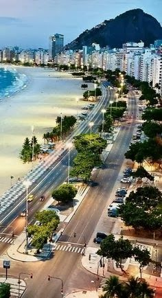 Copacabana, Rio de Janeiro, Brazil. This view looks to be so close to where we stayed.  A travel board all about Rio de Janeiro Brazil. Includes Rio de Janeiro beaches, Rio de Janeiro Carnival, Rio de Janeiro sunset, things to do in Rio de Janeiro, Rio de Janeiro Copacabana and much more. -- Have a look at http://www.travelerguides.net