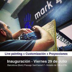 Inauguración del nuevo taller de @markgifer este viernes 29! Barcelona Passatge Sant Benet 7 (Born). Habrá #customizacion de #jeans y live painting a cargo de @konair y @rombillos música y proyecciones de @jan.barcelo !!!  Nos vemos allí!!!