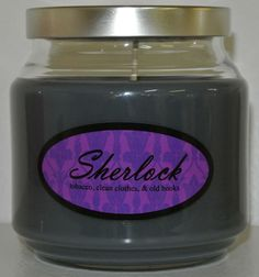 Sherlock-scented candle