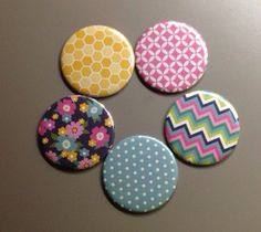 Pack of 5 Fabric Covered Pocket Mirror 2.25 by IslandGirlBags, $15.00 #stockingstuffer