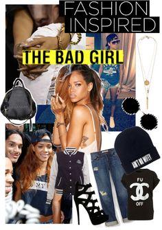 """Bad gal riri"" by sarah-smith-v on Polyvore"