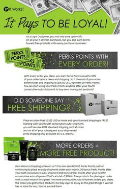 Become my loyal customer and get all the benefits of being healthy inside and out. workitphay.myitworks.com