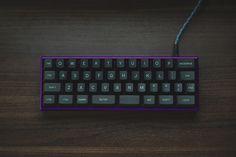 [Photo] TheVan in purple Mini Keyboard, Computer Keyboard, Gaming Room Setup, Computer Setup, Gaming Accessories, Camera Accessories, Craft Room Desk, Computer Gadgets, Tecnologia