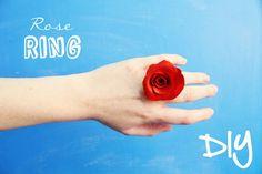 簡単に作れて、存在感バッチリ☆本物みたいな「バラの花びらの指輪」が、たった3つの材料で作れるんです!