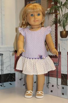 Dress fits American Girl doll 18 inch doll clothes by MissyCrissy2