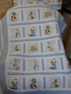 beatrix potter nursery ideas - quilt. Only I'm doing it with green or pink gingham.