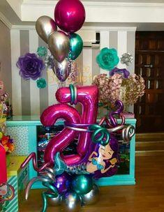 Balloon Arrangements, Balloon Decorations, Birthday Party Decorations, Balloon Ideas, Happy Birthday Wishes Bestfriend, Balloon Bouquet Delivery, Foil Number Balloons, Mermaid Balloons, Balloons And More