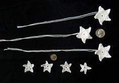 Hand Crochet / Flower appliques / Star by LaraineRoseHandiWorx