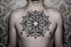 Geometric Mandala Tattoo by Chaim Machlev DotsToLines