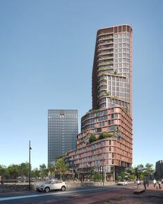 Gallery of Mecanoo Wins Competition to Design Amsterdam's New Vertical Neighborhood - 5 Education Architecture, Classical Architecture, Facade Architecture, Win Competitions, Old Abandoned Houses, Old Mansions, Social Housing, High Rise Building, Arquitetura