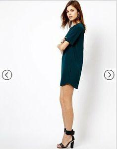 Fashoin Naughty Fashionable Dizzying Green Blending V Neck Short Sleeve Plain Fashion Dresses JC578-1 US$24