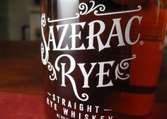 Sazerac straight rye whiskey year): A Maryland-style rye, which is milder and grassier than Pennyslvania ryes. A great sipping whiskey. Sazerac Rye, Cocktail Menu, Best Rye Whiskey, Bourbon Whiskey, Small Batch Bourbon, Whiskey Recipes, Dr Pepper Can, Winter Cocktails, Bourbon