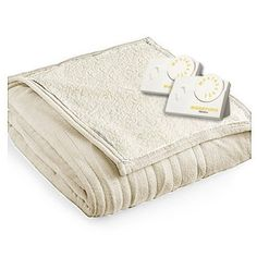 Biddeford 2063 9032138 780 Microplush Sherpa Electric Heated Blanket Queen Linen