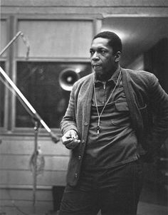 John Coltrane at the recording sessions for A Love Supreme