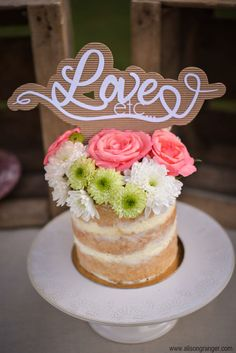 "Cake topper - Mariage ""rustique chic"""