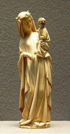 Virgen con el niño.Finales del siglo 13