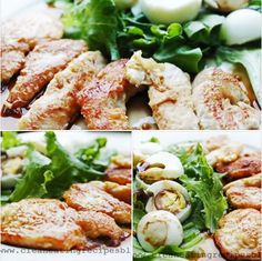 Clean Eating Recipe: Flour-less Chicken Strips in Homemade Teriyaki Sauce with Side Salad and Hard Boiled Eggs. Enjoy!!!!!!!! #cleaneating #eatclean #healthyeating
